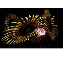 Abstract Fireworks Photographic Print