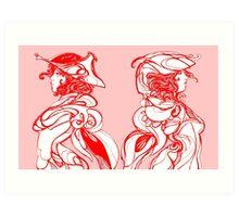 Warriors Left & Right Art Print
