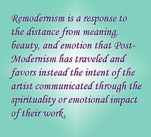 Remodernism Elevator Speech by donnawalsh