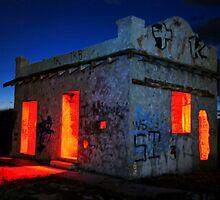 Red Hot Pump House by Michael  Gunterman