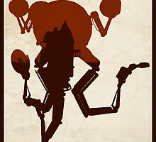 FALLOUT 4 - Codsworth Vintage Silhouette Design by doughballdesign