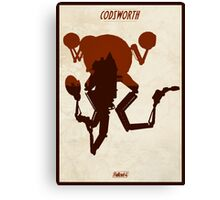 FALLOUT 4 - Codsworth Vintage Silhouette Design Canvas Print