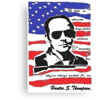 Hunter .S. Thompson. Canvas Print