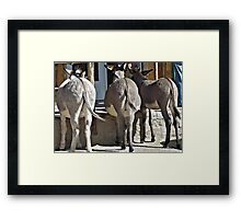 No Ifs Ans Or Butts Framed Print
