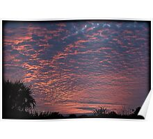 A Winter's Sunset Cloudscape Poster