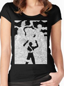 Faces and Figures in the Mist Women's Fitted Scoop T-Shirt