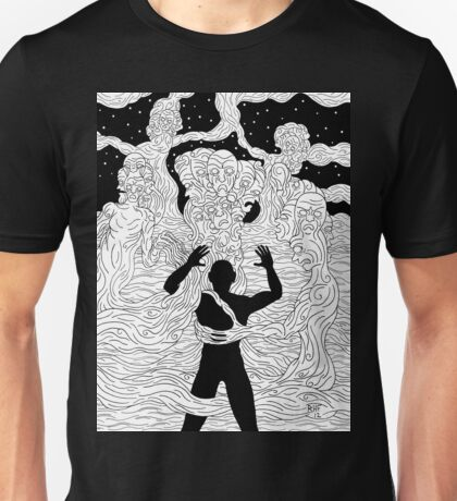 Faces and Figures in the Mist Unisex T-Shirt