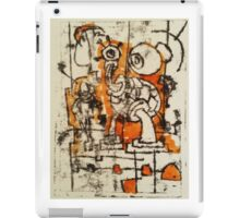 The Thing- Monoprint on Paper iPad Case/Skin