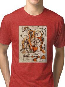 The Thing- Monoprint on Paper Tri-blend T-Shirt