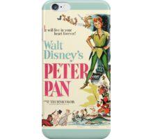 Peter Pan Movie Poster iPhone Case/Skin