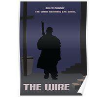 The Wire minimalist work Poster