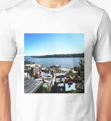 Quebec City's old port Unisex T-Shirt