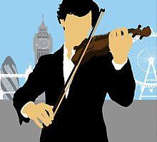 Minimalist Sherlock Violin Piece by cdemps