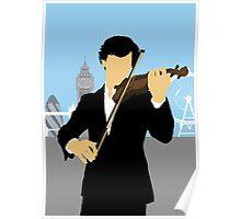 Minimalist Sherlock Violin Piece Poster
