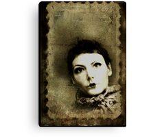 Doll stamp(self portrait) Canvas Print