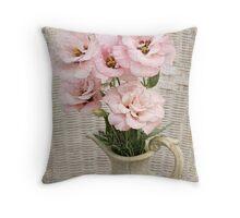Vase of Lisianthus Throw Pillow