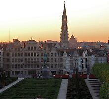 Brussels Old Town at Sunset by Elena Skvortsova