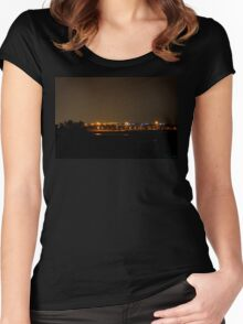 Off In The Horizon Women's Fitted Scoop T-Shirt