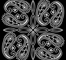 Black and White Floral Paisley Pattern by HavenDesign