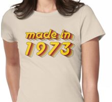Made in 1973 (Yellow&Red) Womens Fitted T-Shirt