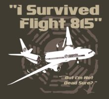 "LOST ""I Survived Flight 815"" T-Shirt"