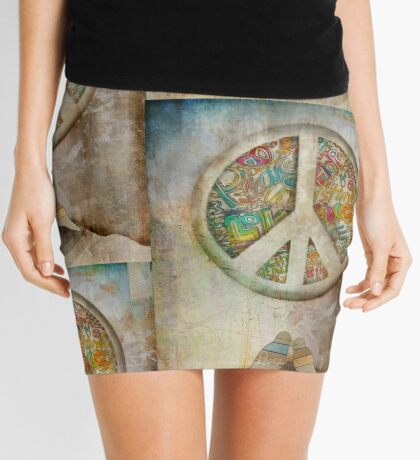 peace Mini Skirt