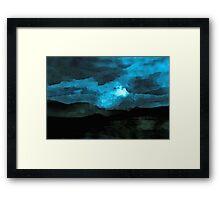 It was a moonlit night Framed Print