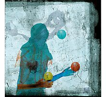 femme et lune - woman and moon Photographic Print