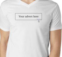 Advertise Here Mens V-Neck T-Shirt