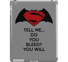Batman v Superman - Do You Bleed iPad Case/Skin