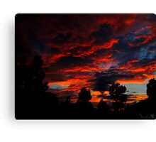 As The Sun Rises To Burn Another Day Canvas Print