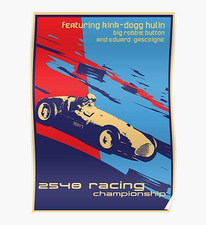 post futurist communist racing poster Poster