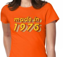Made in 1975 (Yellow&Red) Womens Fitted T-Shirt