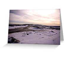 A Winters Road Greeting Card