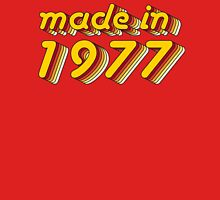 Made in 1977 (Yellow&Red) Womens Fitted T-Shirt