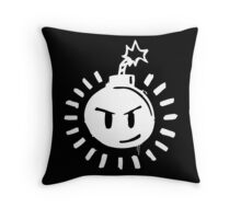 Funny Bomb - Black T Throw Pillow