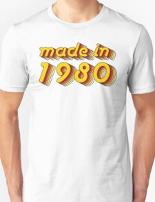 Made in 1980 (Yellow&Red) T-Shirt