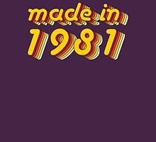 Made in 1981 (Yellow&Red) Womens Fitted T-Shirt