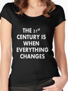 Torchwood - Everything Changes Women's Fitted Scoop T-Shirt