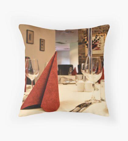 Dinner table Throw Pillow