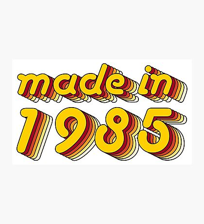 Made in 1985 (Yellow&Red) Photographic Print