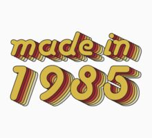 Made in 1985 (Yellow&Red) Kids Clothes