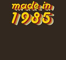 Made in 1985 (Yellow&Red) Womens Fitted T-Shirt