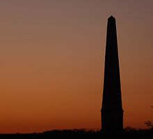 Sunset at Bilsington Monument by Patrick Noble