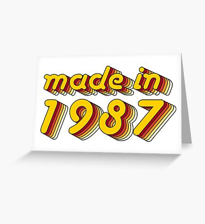 Made in 1987 (Yellow&Red) Greeting Card