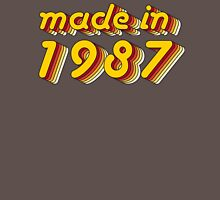 Made in 1987 (Yellow&Red) Mens V-Neck T-Shirt