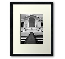 Memorial Amphitheater ~ Part Two Framed Print