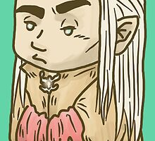Thranduil the Tiny Annoyed Elven King by inogart
