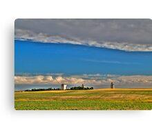 Elevators in the prairies Canvas Print