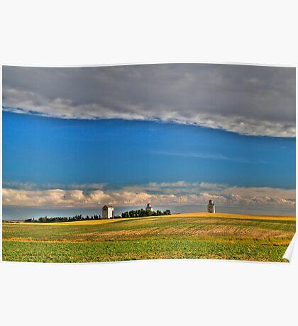 Elevators in the prairies Poster